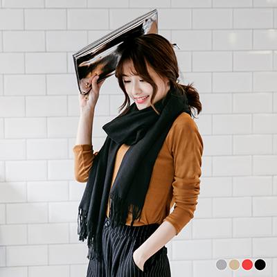 1209新品 【特價款】 素色柔軟質感流蘇圍巾.4色