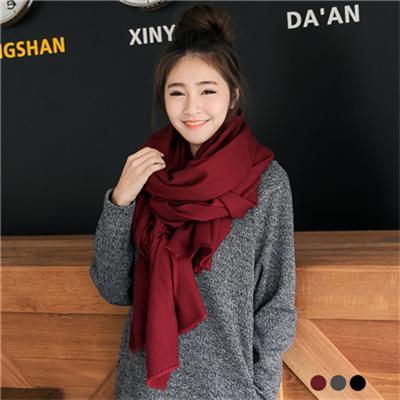 1119新品 【特價款】 素色柔軟不收邊圍巾.3色