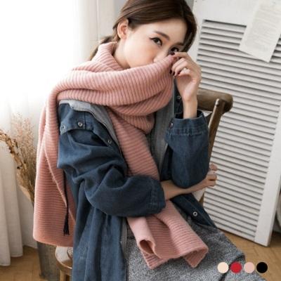0104新品 簡約素面質感織紋圍巾.4色