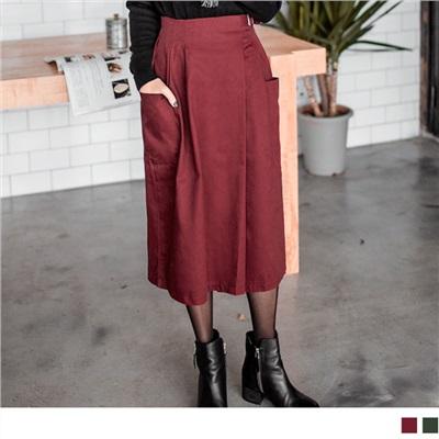 金屬釦環雙口袋寬褲/裙.2色