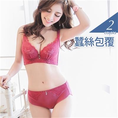 0104新品 3/4罩吊鑽蠶絲包覆內衣‧2色(B-E)