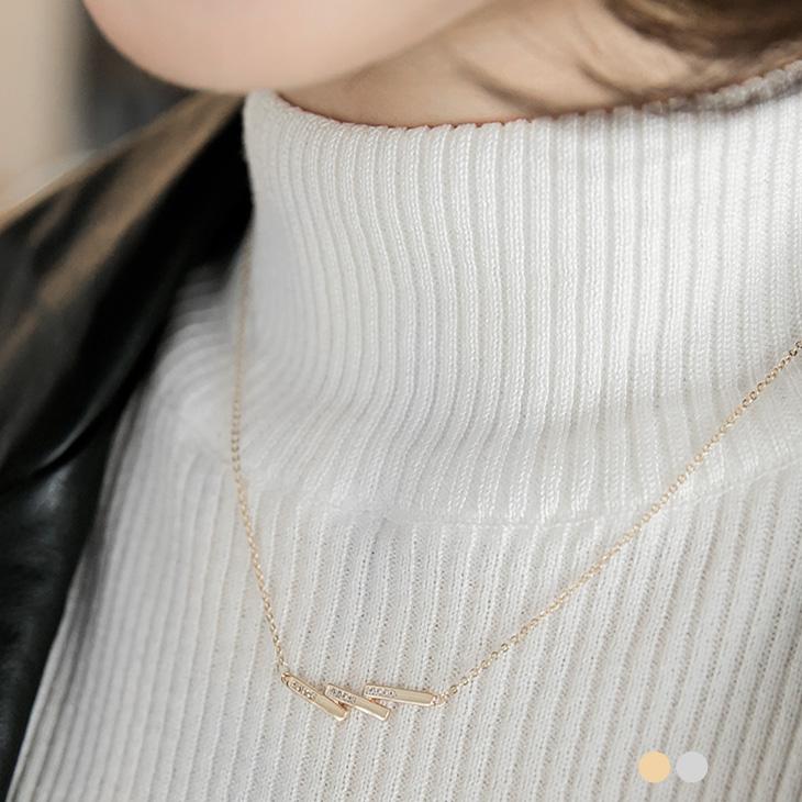 0105ob嚴選 model新品 【特價款】 金屬方形多疊水鑽閃耀項鍊.2色