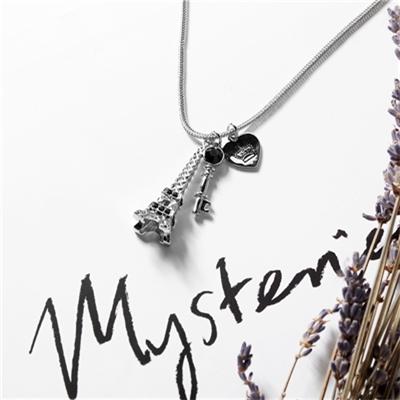 1225新品 【特價款】 金屬巴黎鐵塔鑰匙墬飾項鍊