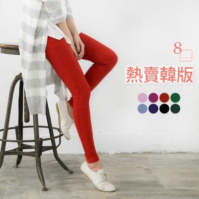 0623新品 熱賣韓版~造型感繡線口袋修身剪裁窄管褲‧8色