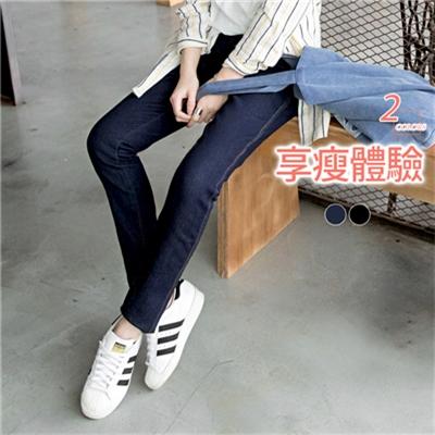 0602新品 嚴選材質超瘦腿彈性牛仔窄管褲.2色