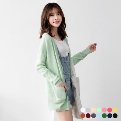 0608新品 素色細麻花針織外套.14色