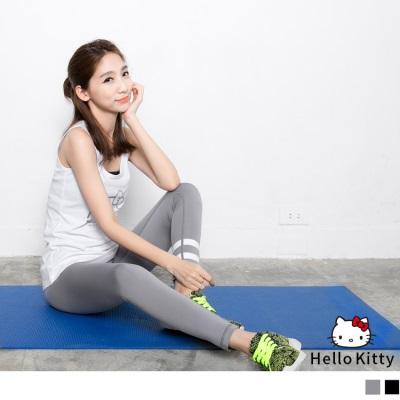 0203新品 Kitty運動系列~線條彈力貼腿運動褲/瑜伽褲.2色
