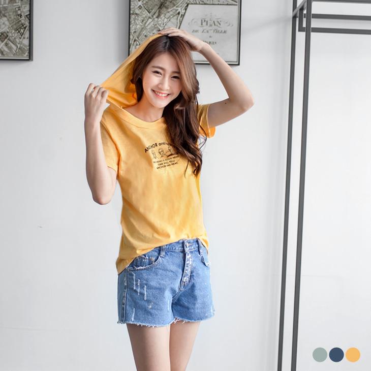 0425新品 不收邊領設計純色竹節棉連帽T恤.3色