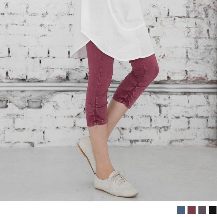 0308新品 熱門話題~顯瘦3D車線皺皺美型雪花七分窄管褲.4色