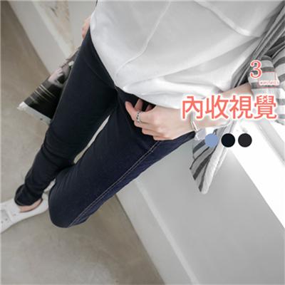0304新品 雪花刷色內收車線鬆緊窄管褲‧3色