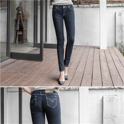 0627新品 原創主打~開釦拉鍊車縫線造型原色嚴選牛仔褲