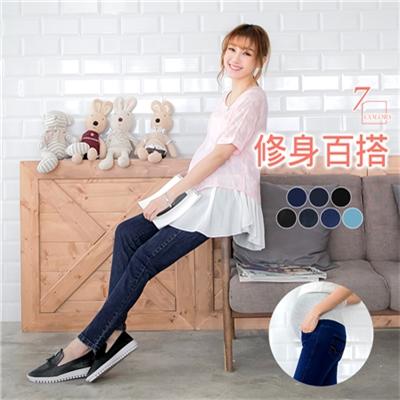 0616新品 水洗刷色牛仔修身孕婦褲‧7色