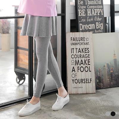 0520新品 裙襬假兩件內搭孕婦褲‧2色