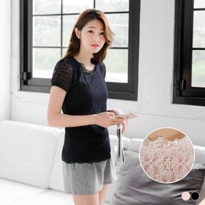 0510新品 高端浪漫~滿版雕花蕾絲面料公主袖上衣.2色