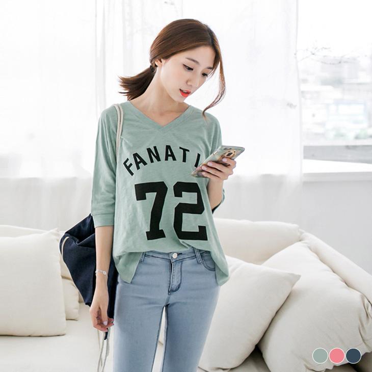 0331新品ob 門市 V字燙印蝙蝠袖設計竹節棉T恤.3色