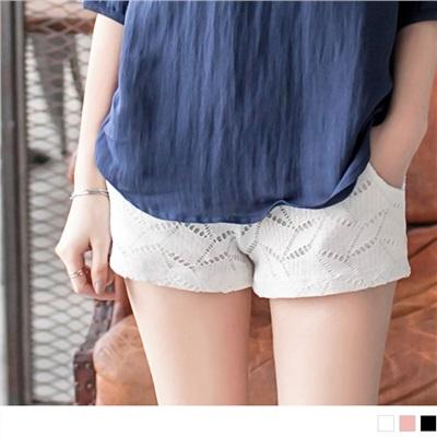 0622新品 時尚品味~滿版幾何圖形花紋造型短褲•3色