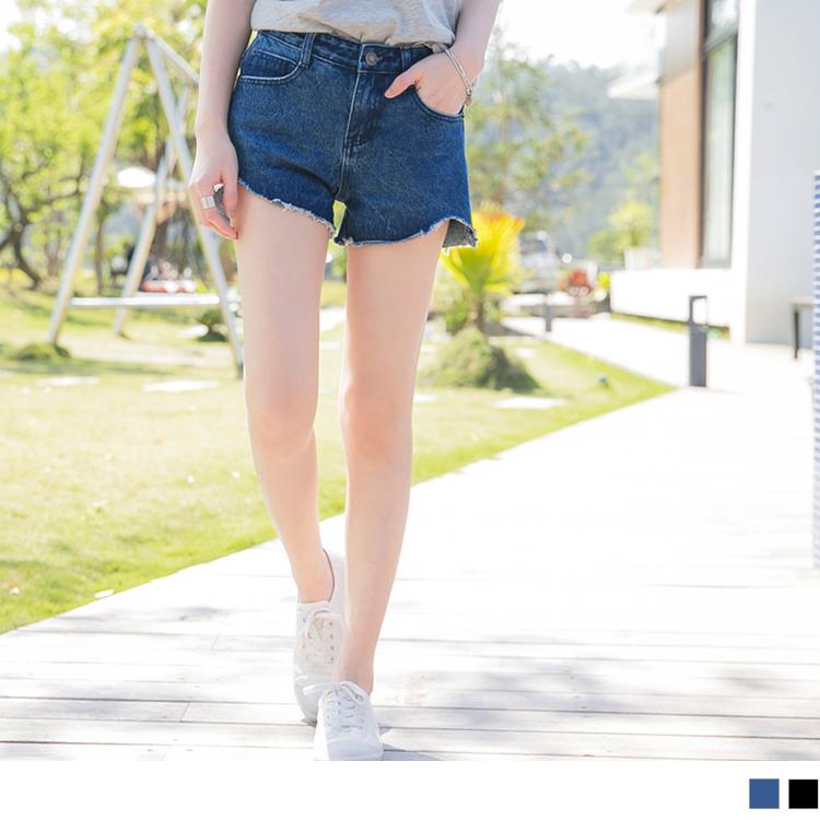 0obdesign513新品 微挺美型褲管切口牛仔短褲?2色