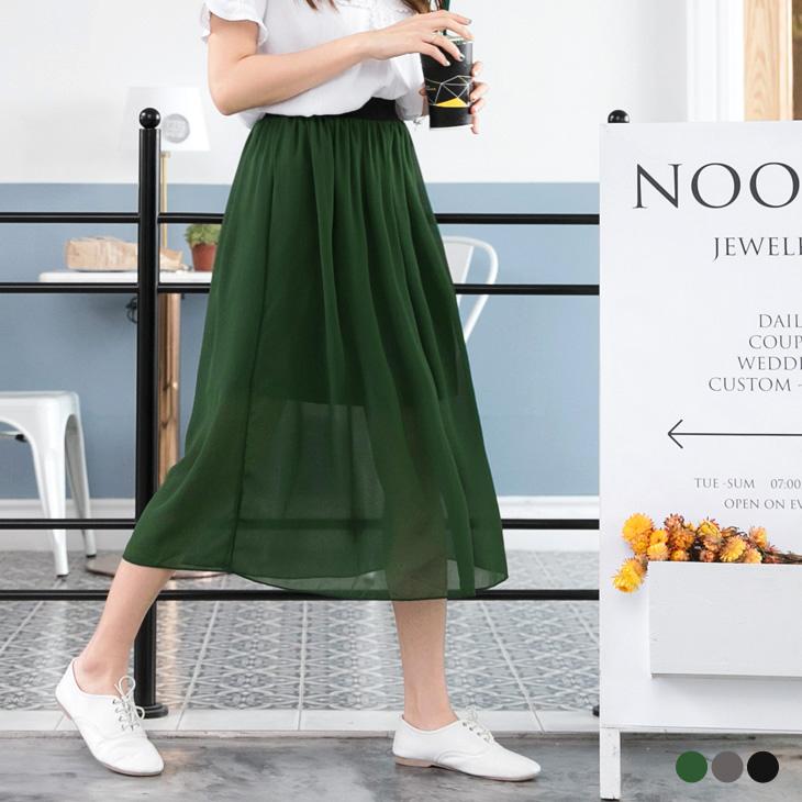 0321新品 夏日輕舞~飄逸感一片ob旗艦式透紗長裙.3色