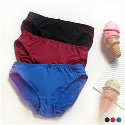 0406新品 【特價款】 美型素面蕾絲小花朵內褲‧3色