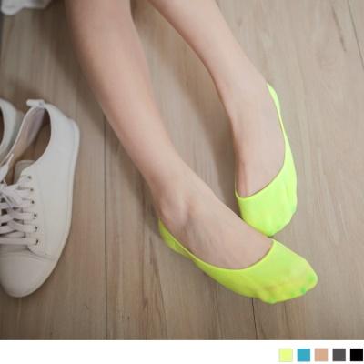 0628新品 極親膚柔軟素色止滑隱形襪/三入一組.5色