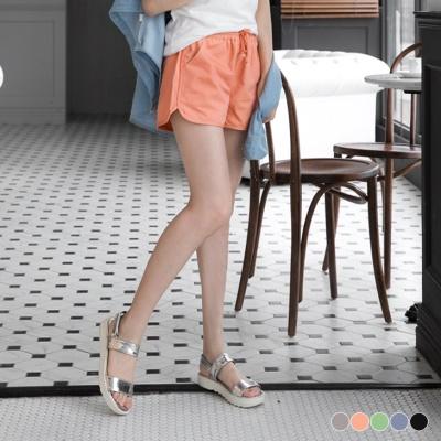 0428新品 綁帶彈性多色斜紋布休閒短褲.5色