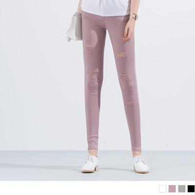0523新品 刷破造型顯瘦窄管褲‧4色