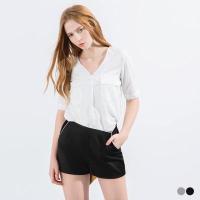【精選系列♥任選7折】滾邊造型休閒西裝短褲.2色