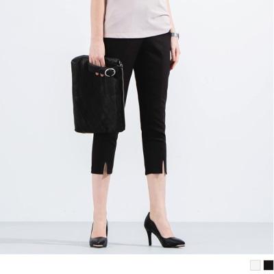0516新品 褲管開衩素色西裝褲‧2色