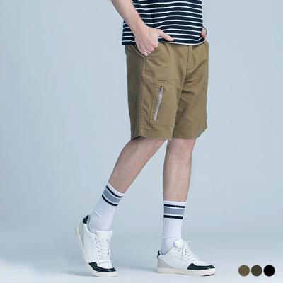 0505新品 口袋拼色造型拉鏈休閒短褲‧3色