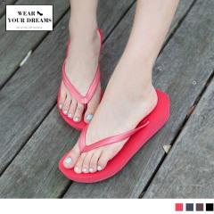0411新品 厚底造型舒適人字夾腳拖鞋.4色