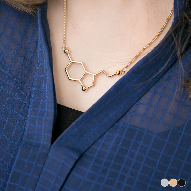 0428新品 蜂巢方塊短ob窄管褲項鍊.3色
