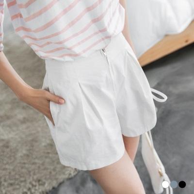 0530新品 素面立體剪裁打褶設計短褲.3色