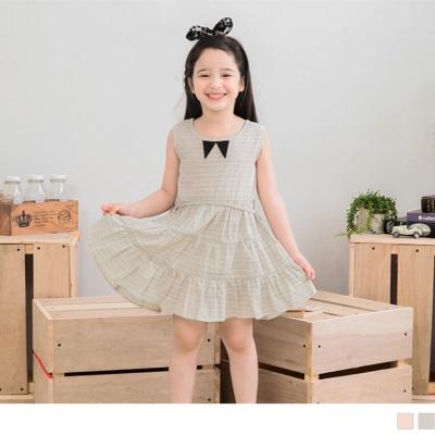 0530新品 細格紋無袖蛋糕裙洋裝‧童2色