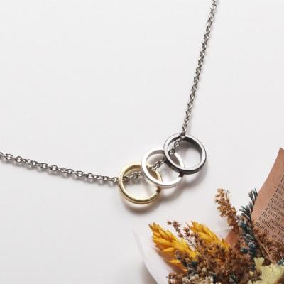 0617新品 【特價款】三色金屬鏤空圓環項鍊