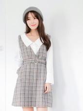 素面公主領造型長版棉感襯衫.2色