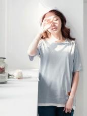素色經典高含棉白內領口短袖上衣.3色
