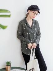 滿版星星長版雪紡襯衫.2色