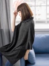 七分蝙蝠袖造型微高領長版上衣
