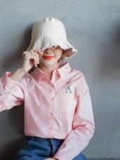 高含棉愛心獨角獸刺繡襯衫