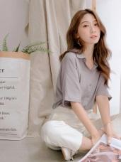 純色柔軟短袖襯衫