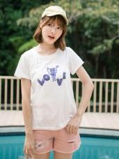台灣製造.戀愛機器人印圖T恤上衣