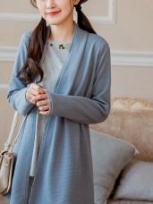 台灣製造.造型綁帶純色立體紋理外套/罩衫