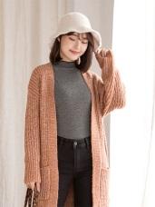 台灣製造.小立領細條磨毛上衣