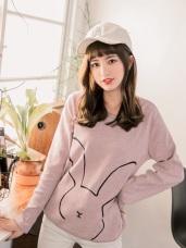 台灣製造.兔子燙印設計磨毛上衣