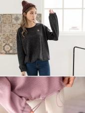 毛料面下襬縮口造型上衣