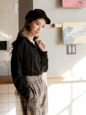 開襟排釦連帽寬鬆針織上衣