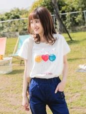 親子系列~彩色棒棒糖高含棉印圖上衣