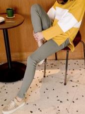 修身塑型彈力多色顯瘦窄管褲
