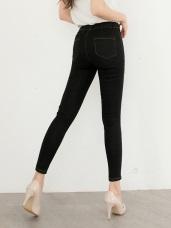 修飾腿型彈性牛仔窄管褲