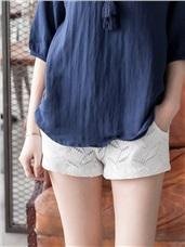 滿版幾何圖形花紋造型短褲